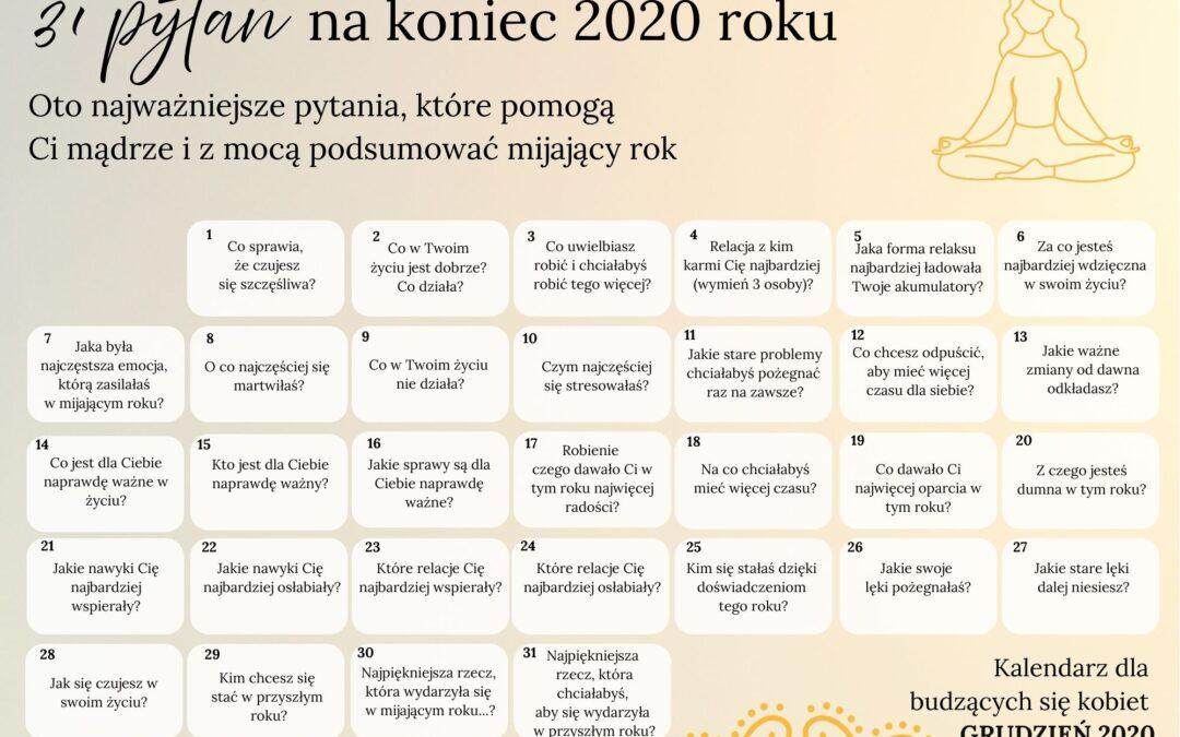 31 pytań na koniec 2020 roku